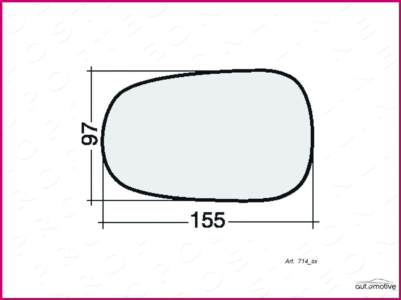 Vetro Specchio Retrovisore Destro Sinistro Asferico 23016
