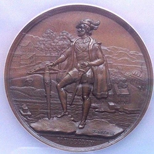1865 CH Rare Swiss 1865 Large Bronze Shooting Medal Zuric coin Good NGC