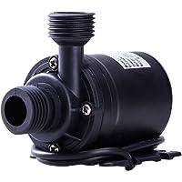 UEETEK DC 12V Pompe à eau submersible sans balai 800L / H 5M pour système de circulation d'eau de système de circulation solaire de la piscine Fontaine