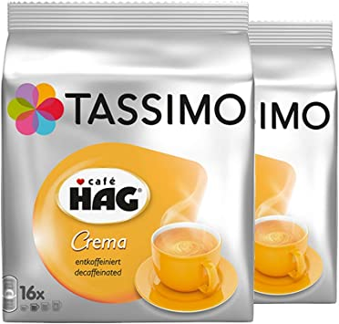 Amazon.com: Tassimo Café Hag Crema descafeinado, certificado ...