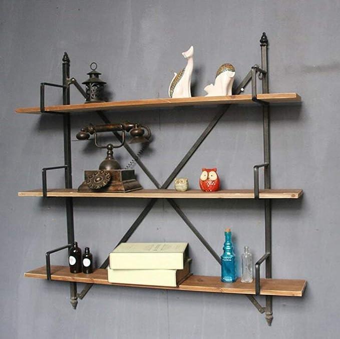 Eeayyygch, estantería de 3 estantes de Hierro Industrial ...