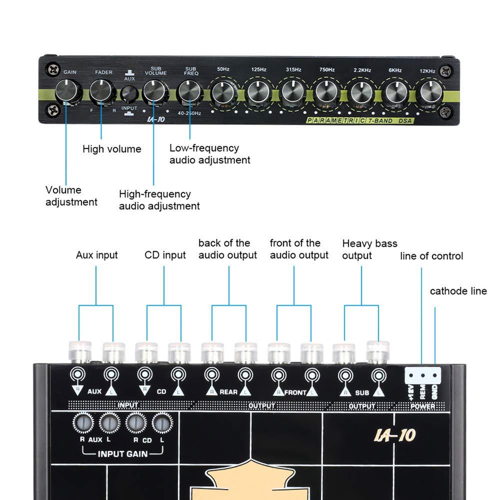 7 Bandas Ecualizador de Sonido para Coche Wodeni EQ