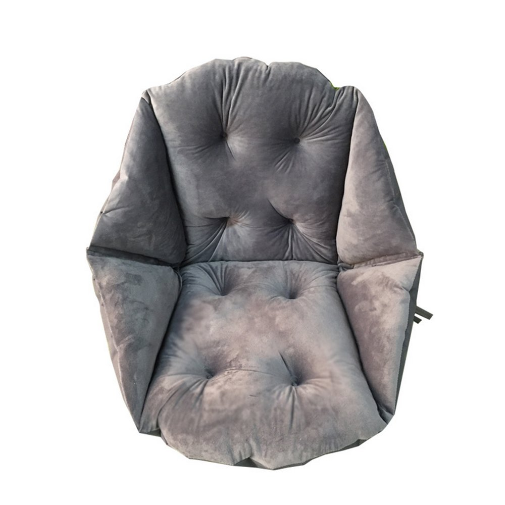 Chair Cushion,Soft Plush Thickening Warm Cushion Waist Cushion for Home Office Games by TRIEtree size Four holes (Gray)