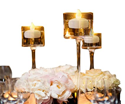 Pezzi senza fiamma barlume tealights candele galleggianti per