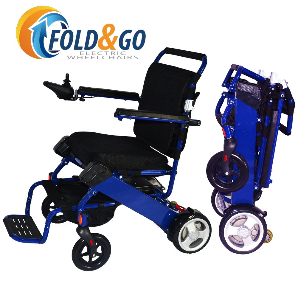 Pink electric wheelchair - Amazon Com Fold N Go Power Wheelchair Royal Blue Only 46 Lbs With Battery Driving Range 12 Miles Per Charge Max Speed 4 Mph Airplane Approved
