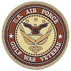 "U.S. Air Force Gulf War Veteran Patch Brown 5"""