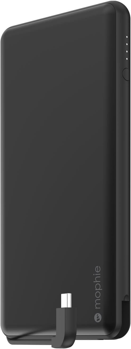 Mophie powerstation Plus XL USB-C - Universal External Battery with built in Cables (12,000mAh) - Matte Black (4114_PSPLUS-USBC-12K-MBK)