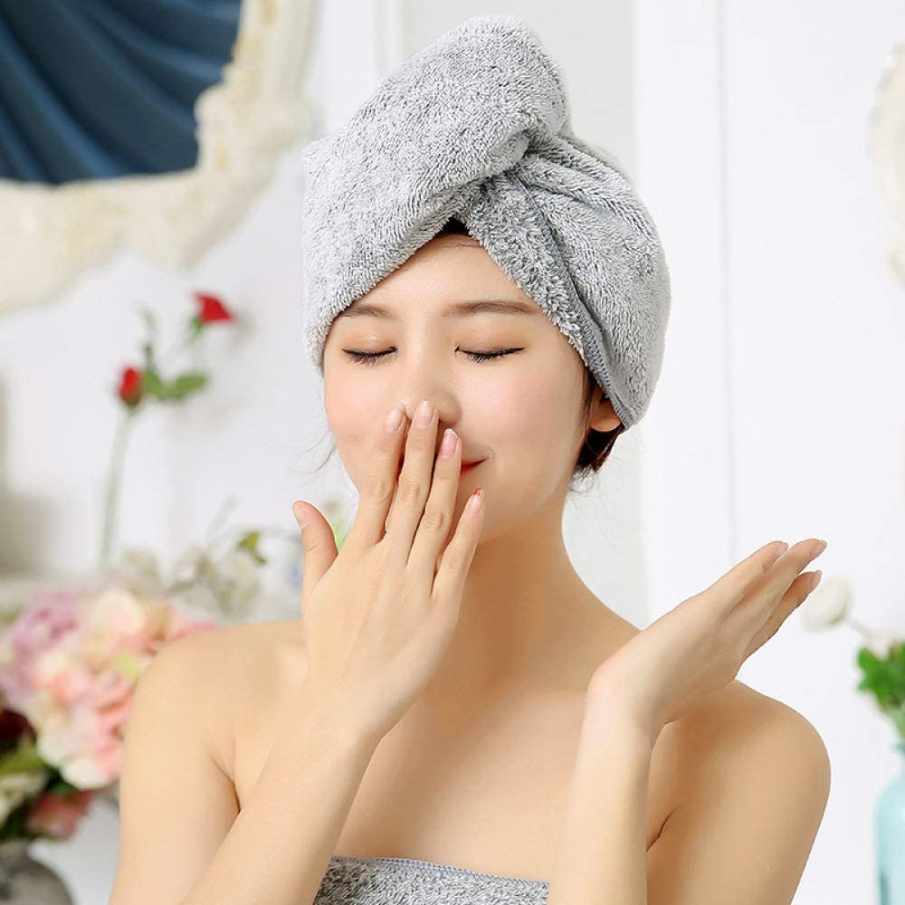 Y XM Turbante Asciugacapelli Microfibra Carbone di bambù
