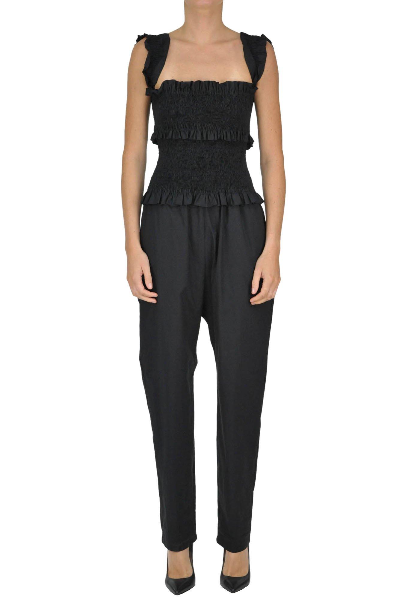 Pinko Women's Mcglvs003177e Black Cotton Jumpsuit