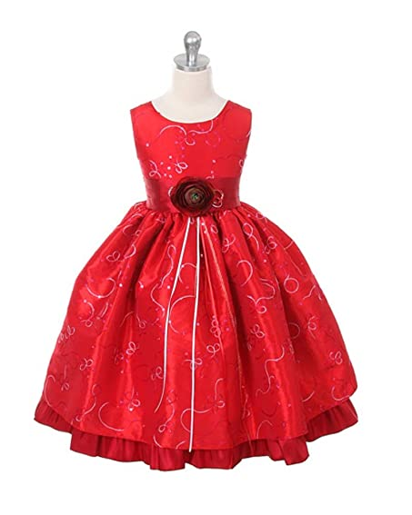 Amazon.com: Girls Christmas Holiday Dress (Assorted Colors) Size ...