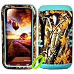 Cellphone Trendz High Impact Hybrid Rocker Protective Case for Motorola Moto G XT1032 – Hunter Series Real Camo Mossy Oak Big Branch Tree Hard Shell (Mint Blue)