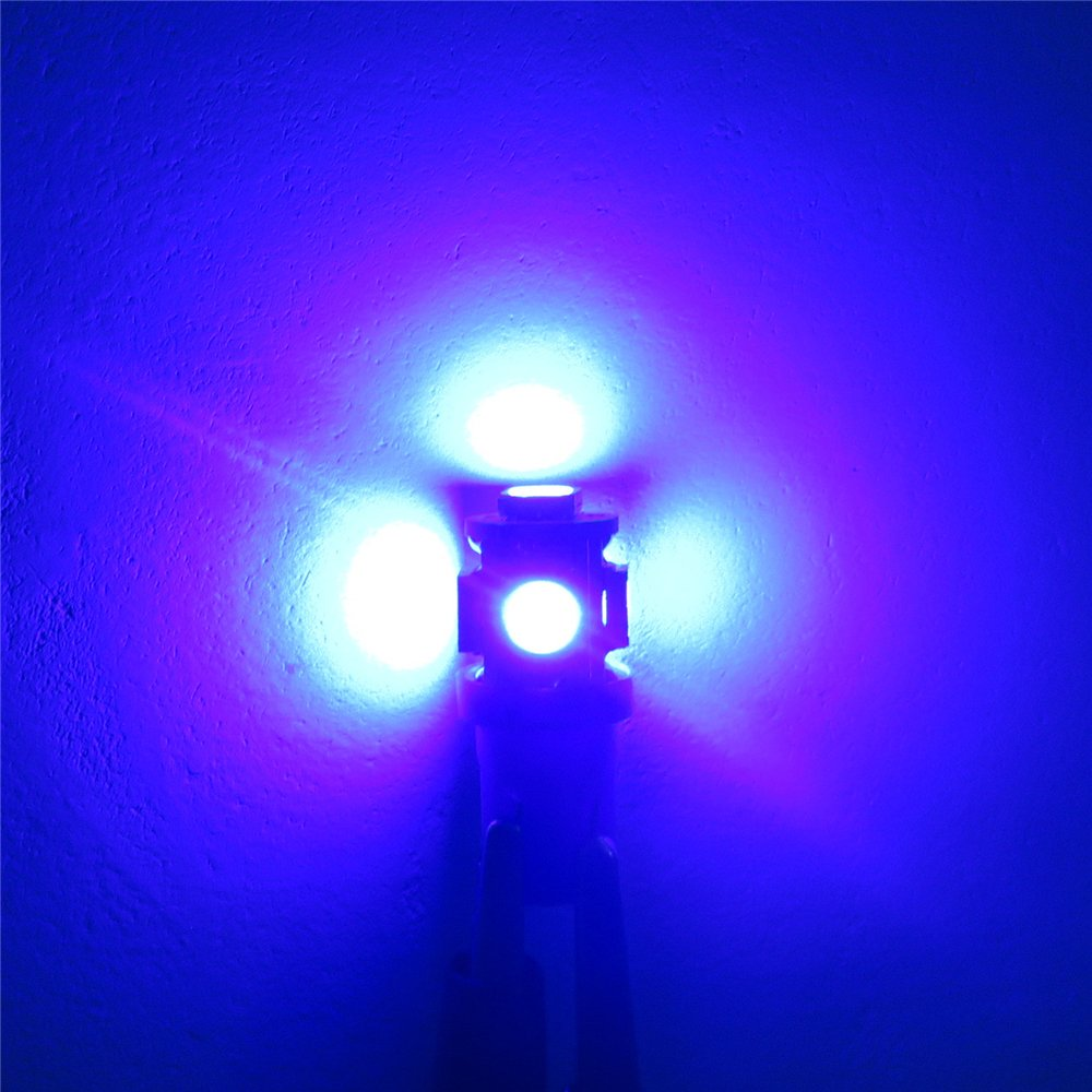 WLJH Lot de 6 ampoules LED T10 194 LED Bleu 168 ampoules pour tableau de bord Panneau dinstrument Indicateur de lumi/ère LED T10 LED