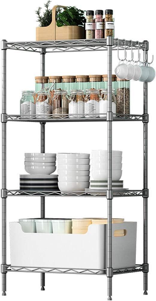 Carrito verdulero cocina Estante de cocina de cuatro pisos para el ...