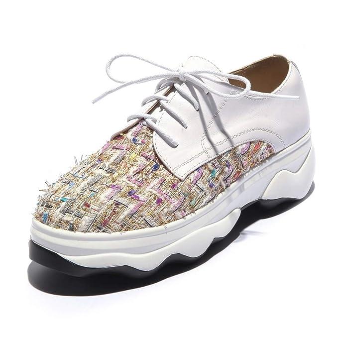 HOESCZS A Estrenar De Gran Tamaño 32-43 Cordones Mujer Botas Mujer Zapatos Moda Pisos Zapatillas de Deporte Al por Mayor Zapatos Mujer: Amazon.es: Deportes y aire libre