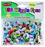 Creative Arts by Charles Leonard Wiggle Eyes, Painted, Assorted Sizes and Colors, 100/Bag (64520)