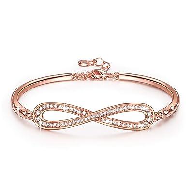 Amazoncom LadyColour Endless Love Bangle Bracelets Swarovski