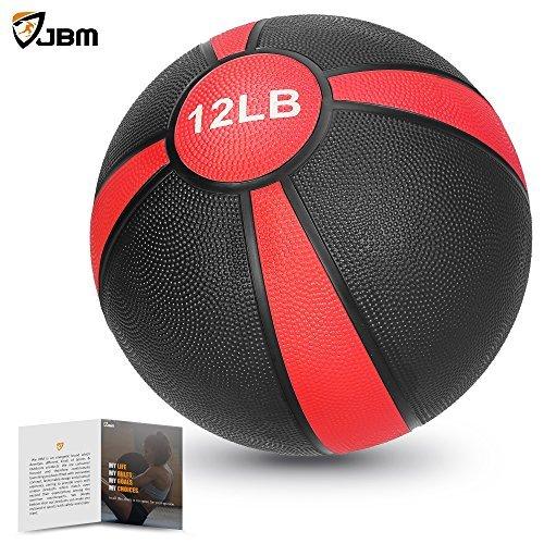 JBM - Pelota de medicina (2lbs 4lbs 8lbs 10lbs 12lbs 15lbs) Slam Ball Medicina entrenamiento de entrenamiento de fuerza...
