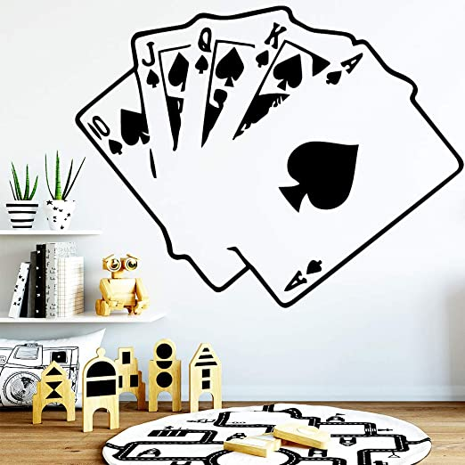 Jxny Interesting Playing Cards Wallpaper House Decoration