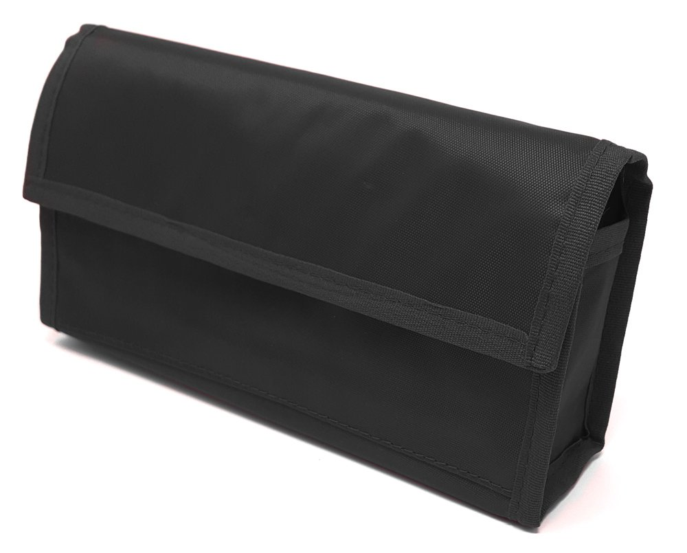 Twice-a-Day Weekly Pill Organizer with Travel Pill Case (Black)