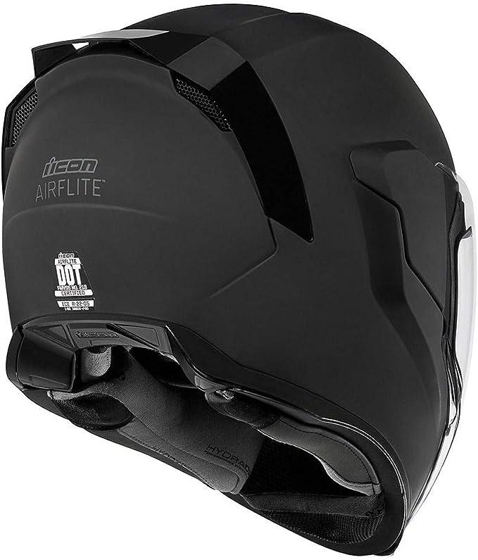 Icon Airflite Rubatone Matt Schwarz Integral Helm Größe L Auto
