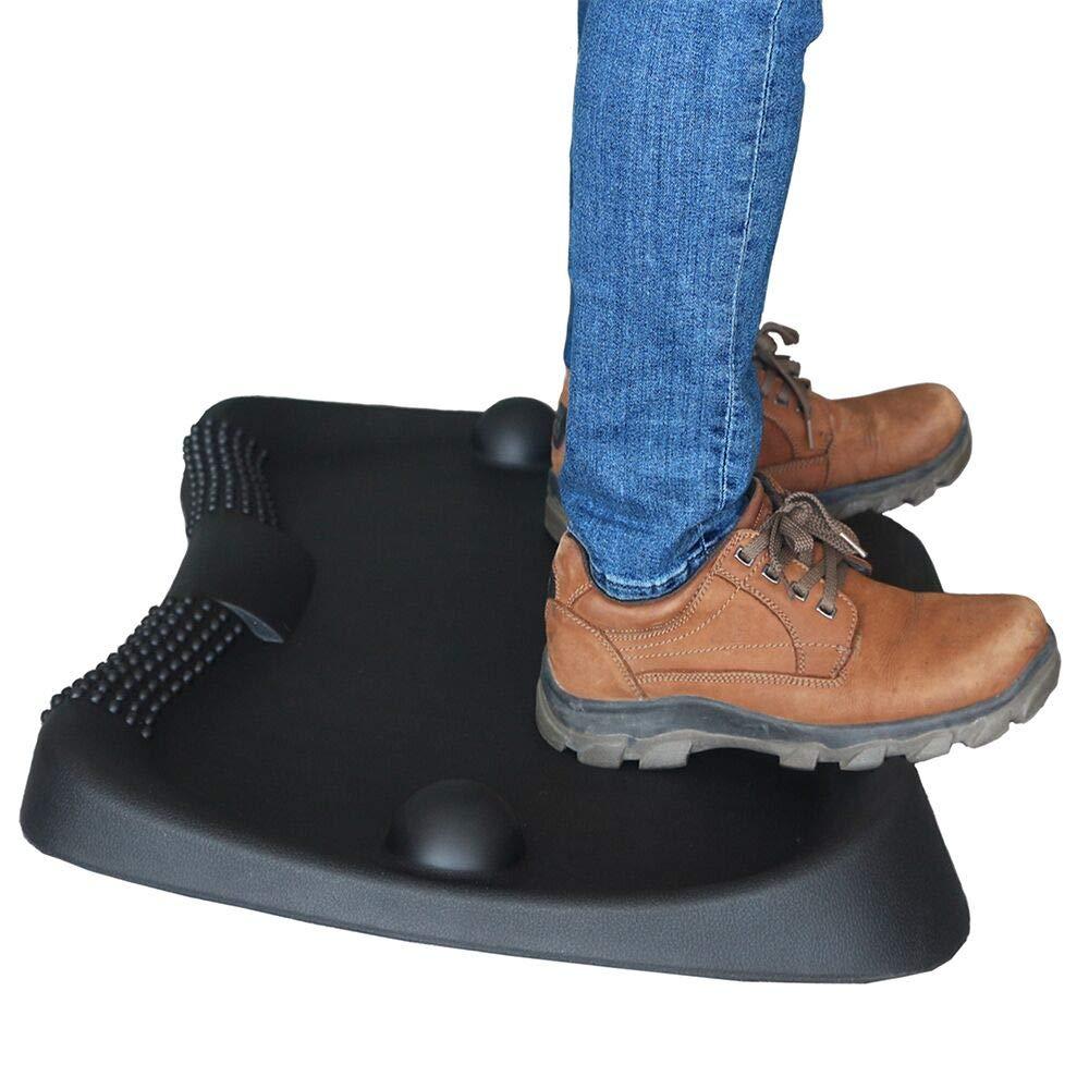 Aucuda Anti Fatigue Black Standing Desk Floor Mat, 27 inch length, 22 inch width,