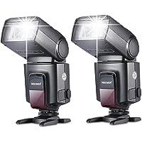Neewer 2 Pieces TT560 Flash Speedlite for Canon Nikon Panasonic Olympus Fujifilm Pentax Sigma Minolta Leica and Other SLR Digital SLR Film SLR Cameras and Digital Cameras with Single-Contact Hot Shoe