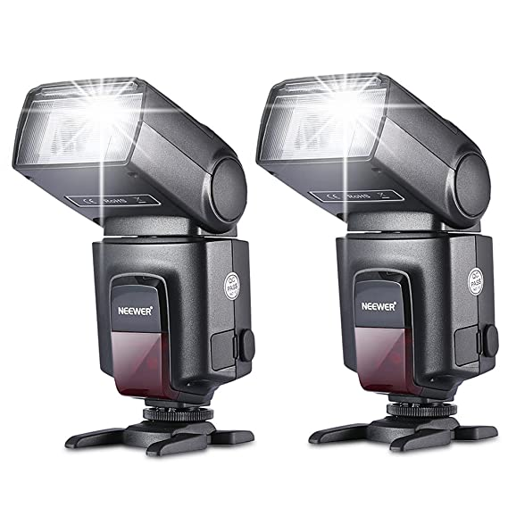 Neewer®TT560 Zwei Blitzgerät Blitz Speedlite Set für Canon Nikon Sony Olympus Panasonic Pentax Fujifilm Sigma Minolta Leica u
