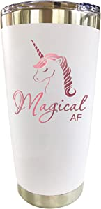 Unicorn Gifts for Women - Travel Coffee Mug/Tumbler with Lid 20oz - Funny Gift for Unicorn Lovers, Adults Cute Mugs