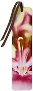 product image for Lily Flower - Photograph by Mike DeCesare - Brushstroke Touch Up on Wooden Bookmark with Suede Tassel
