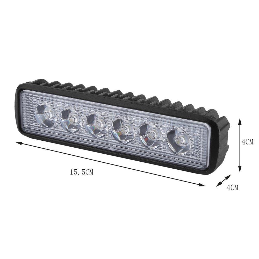 4 St/ück 18W LED Arbeitsscheinwerfer Auto KFZ Scheinwerfer LED Beleuchtung Arbeitsleuchte Offroad Flutlicht Flood Wei/ßes Licht 12-24V 6500K Kaltes Wei/ß