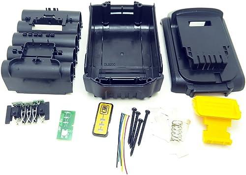 Caja de plástico de reemplazo de batería para DeWalt 20V DCB201, DCB203, DCB204, DCB200 18V Partes de la cubierta de la batería de iones de litio: Amazon.es: Bricolaje y herramientas