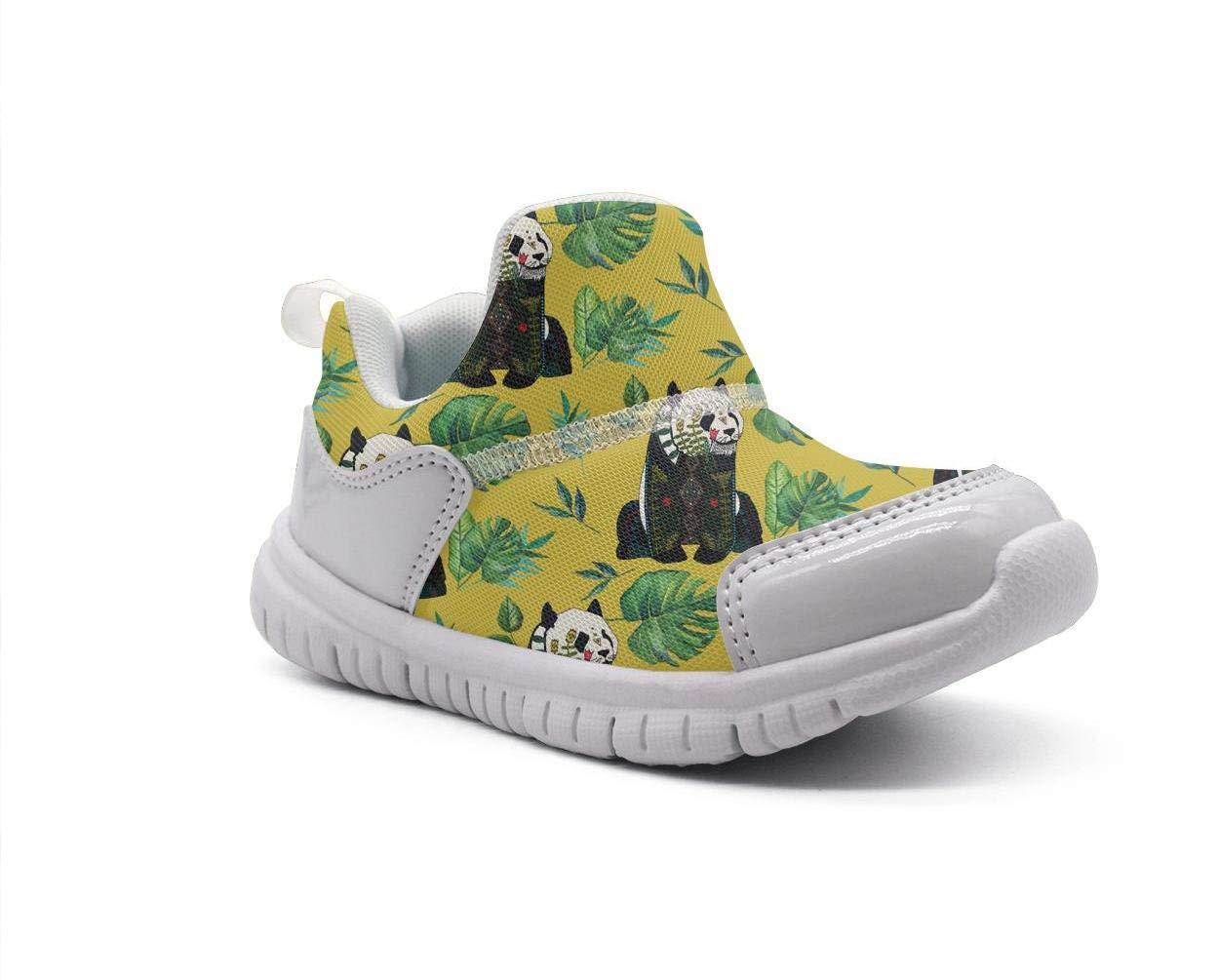 ONEYUAN Children Panda Bear Banana Leaf Kid Casual Lightweight Sport Shoes Sneakers Running Shoes