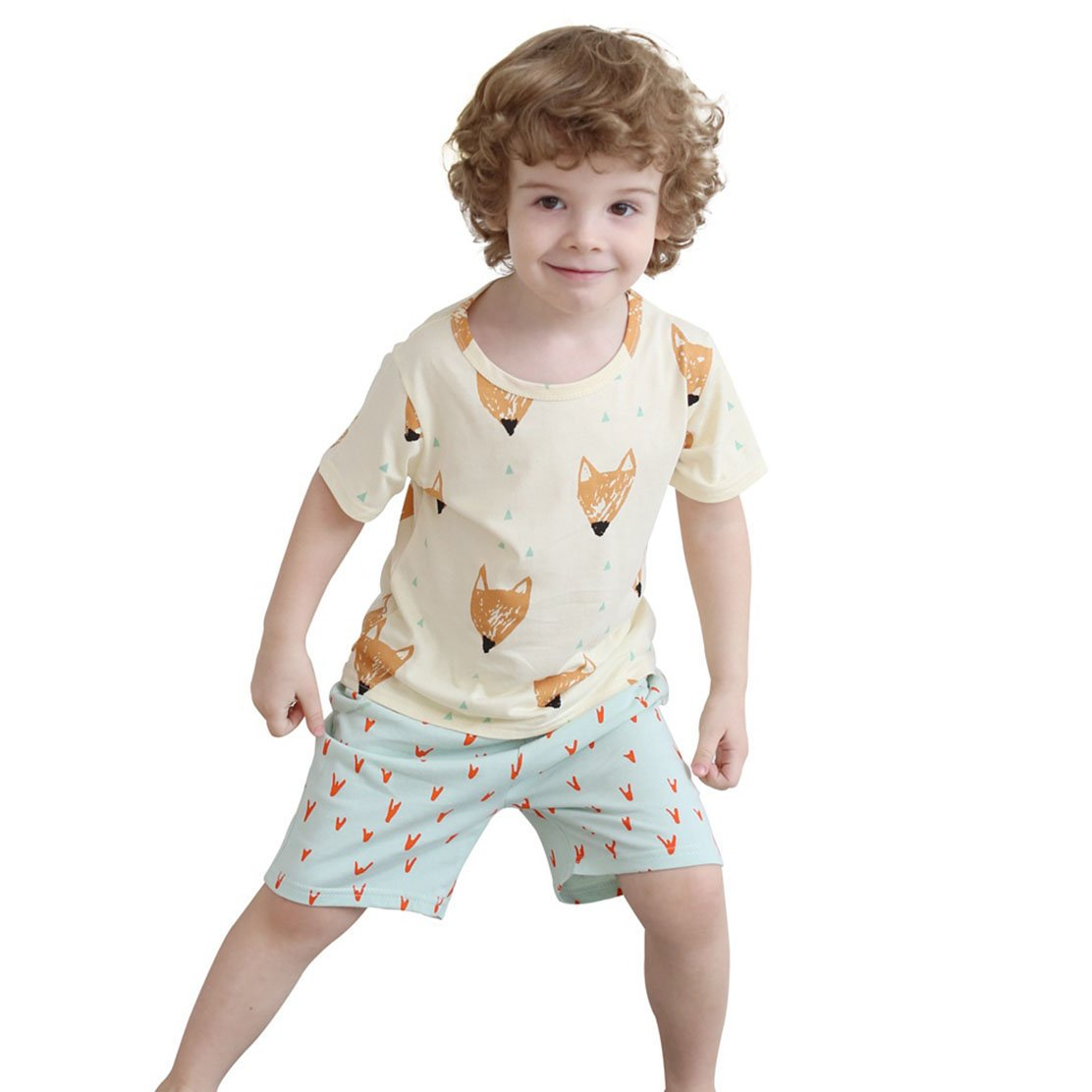 daqinghjxg Summer Children Clothing Set Brand Sport Suits For Boys Toddler Baby Tshirts + Shorts As Picture 6