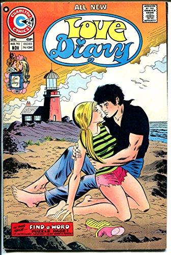 Love Diary #90 1974-Charlton-lighthouse-swimsuit panels-VG+