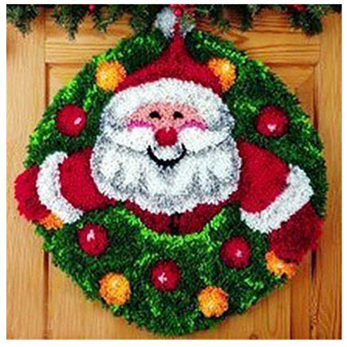 14 Model Christmas Latch Hook Kit Rug Christmas111 21 by 21 Inch (1 pack)