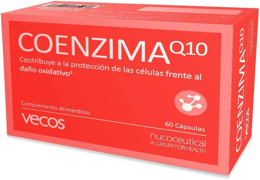 Antioxidante endógeno Vecos con coenzima Q10, vitamina C y vitamina E – Potencia el rendimiento físico – 60 cápsulas