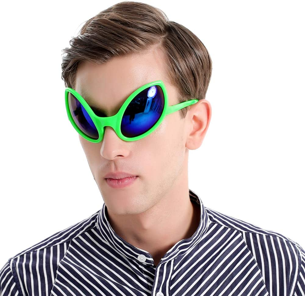 2pcs Novelty OK Gesture Sunglasses Alien Glasses Hip Hop Costumes Party Prop