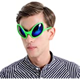 Funny Alien Costume Mask Novelty Glasses Halloween Party Photobooth Props Favors Accessories Party Supplies Decoration…