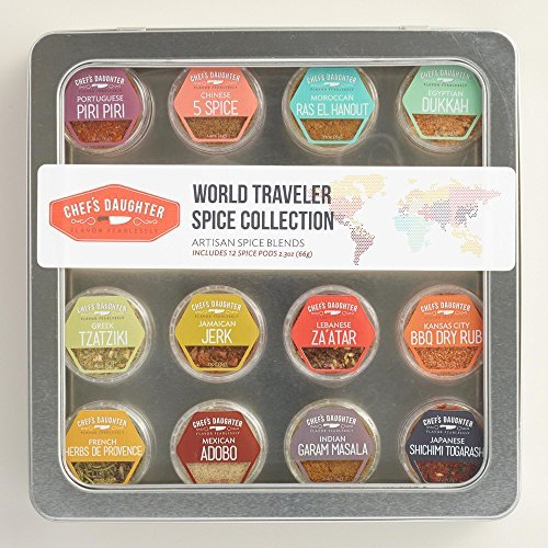 (Chef's Daughter World Traveler Gift Collection Travel Spice Kit - 12 Artisan Spice Blends 66g)
