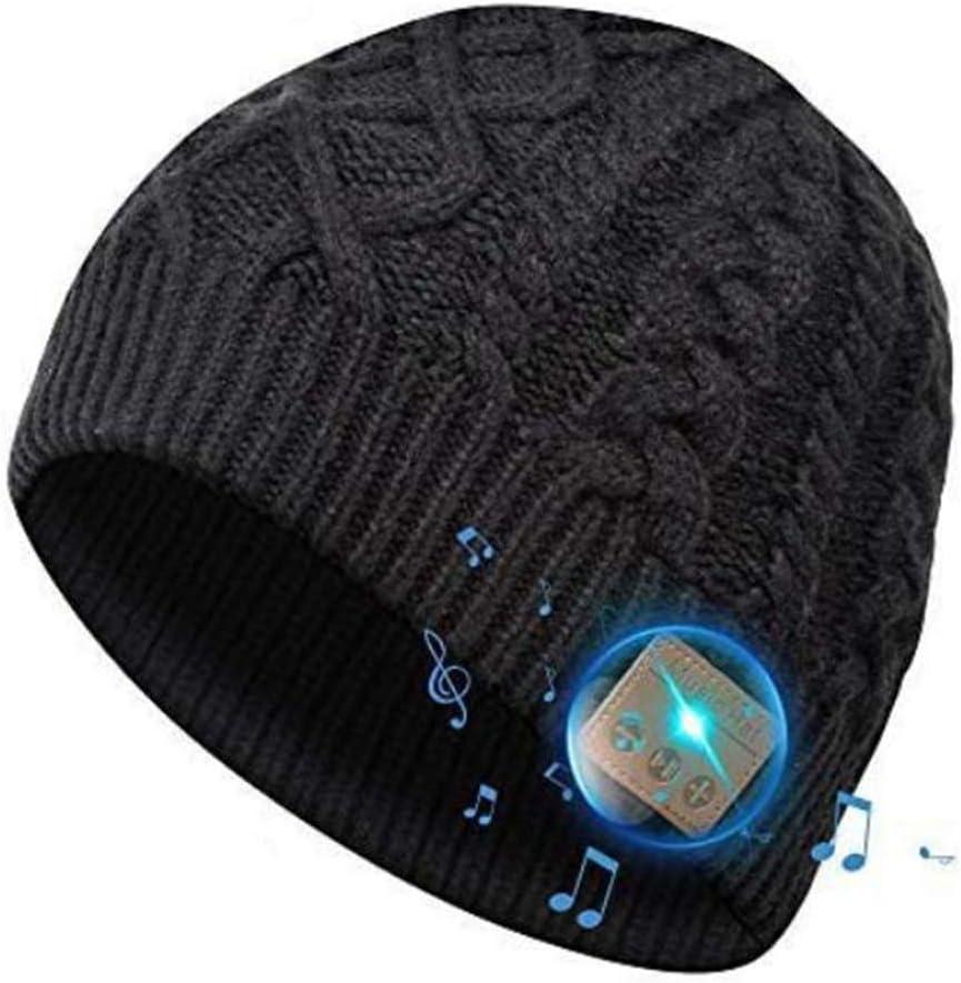 SOOFUN Regalos Originales para Hombre y Mujer Sombrero Bluetooth - Bluetooth 5.0 Sombrero Bluetooth, Sombrero de Invierno con Auriculares Bluetooth Inalámbricos, Apto para Ciclismo, Trotar, Esquí