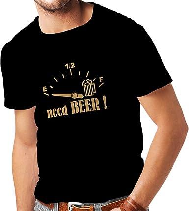 lepni.me Camisetas Hombre ¡Necesito más Cerveza! Divertido Regalo, Bebida - Bar - Lemas Fiesta