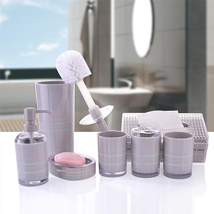 Dispensador manual del jabón,Portacepillos,Vaso Set de baño,Jabón de mano Cuarto