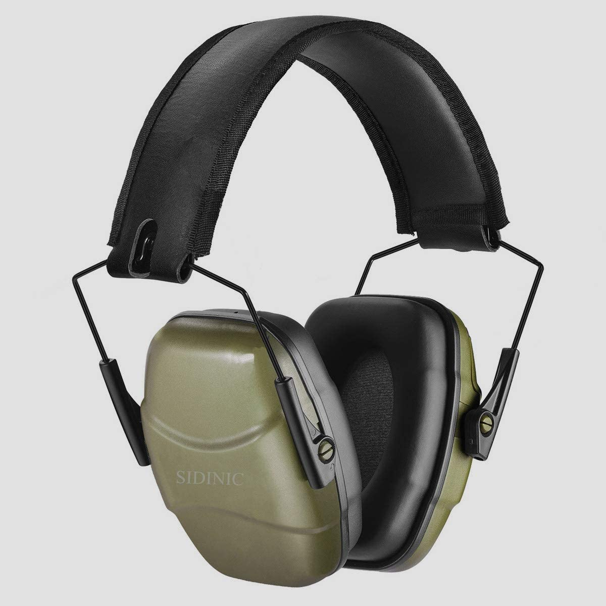 GUCHO 34 dB NRR Noise Reduction Safety Shooting Ear Muffs,Shooters Hearing Protection Adjustable Ear Muffs,Professional Ear Defenders for Shooting Hunting Fits Adults to Kids(Green)