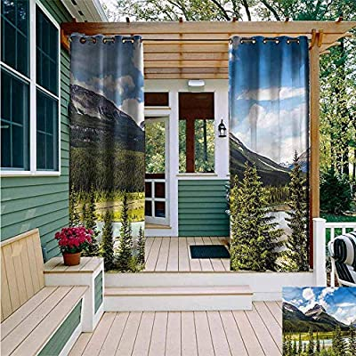 AFGG Grommet Extra Long Curtains,Landscape Snowy Mountain Ridges,Darkening Thermal Insulated Blackout,