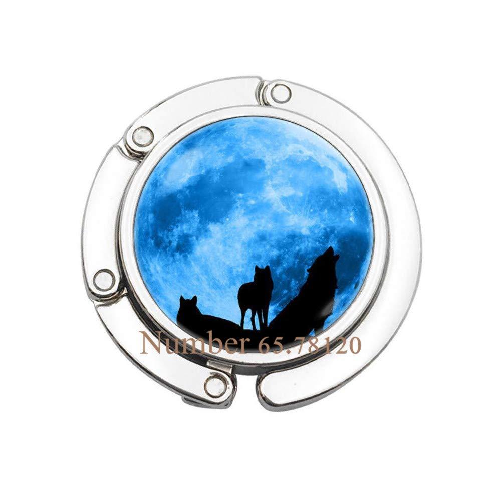 V1 Wolves Bag Hook Moon Bag Hook Wolf Jewellery Blue Moon Purse Hook Full Moon Jewelry Wolf Jewelry Animals Purse Hook Moon,BV218