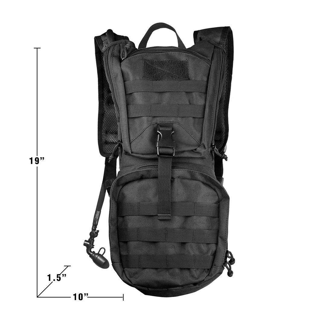 7fcfedde17ea Amazon.com: Besiva Tactical Hydration Pack Backpack 3L Water Bladder ...