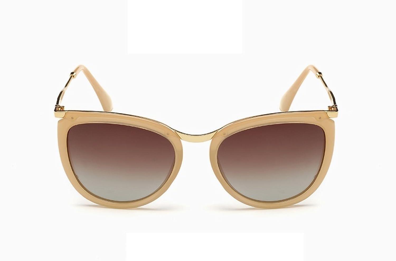 LQABW Klassische Polarisierte Sonnenbrille Der Frauen Für Alle Gesichter UV400 Schutz-Mode-Fahrrad-Schutz-Augen,Beige
