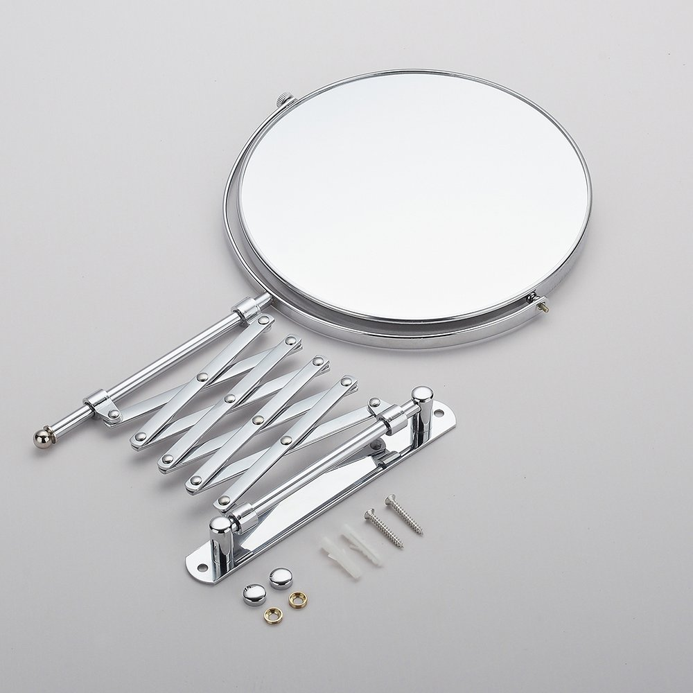 Cavoli 6 Inches Double-sided Wall Mount Scalable Mirror with 3x Magnification,Chrome Finish(6 inch,3x) by Cavoli (Image #7)