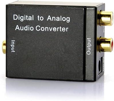 JVR Digital überreden óptico Toslink a analógico RCA Audio Convertidor Adaptador para HD televisor Smart LED Apple TV Xbox 360: Amazon.es: Electrónica