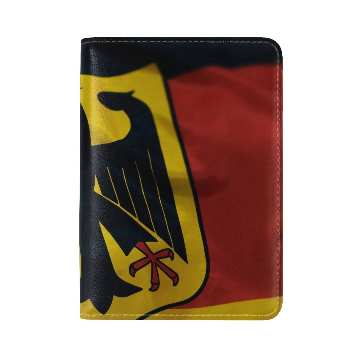 Germany Flag Coat Of Arms Fabric Leather Passport Holder Cover Case Travel One Pocket